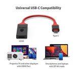 MacBook Pro câble USB C vers HDMI 4K 30Hz Conmdex mâle adaptateur USB 3.1vers HDTV mâle pour Samsung Galaxy Note 8/S8+, Imac2017, Chromebook Pixel, Vidéoprojecteur, Thunderbolt 3Compatible (2m, 2m) de la marque CONMDEX image 2 produit