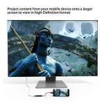 MacBook Pro câble USB C vers HDMI 4K 30Hz Conmdex mâle adaptateur USB 3.1vers HDTV mâle pour Samsung Galaxy Note 8/S8+, Imac2017, Chromebook Pixel, Vidéoprojecteur, Thunderbolt 3Compatible (2m, 2m) de la marque CONMDEX image 3 produit