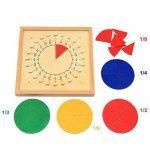 MagiDeal Jeux Educatif Enfants Montessori Fraction Matériel Mathématiques Tableau de Fraction Rond Jouet en Bois Education Précoce de la marque MagiDeal image 2 produit
