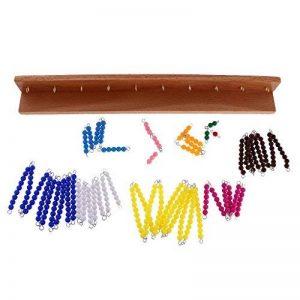 MagiDeal Jeux Educatif Enfants Montessori Perles Matériel Mathématiques Exercice Calcul de Racine Carrée Jouets d'Apprentissage Précoce de la marque MagiDeal image 0 produit