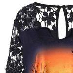 Manadlian Chemise en Mousseline de Soie Haut Dentelle Femme Manches Longue Tunique Déguisement Costume Halloween de la marque Manadlian-T+Shirt image 3 produit