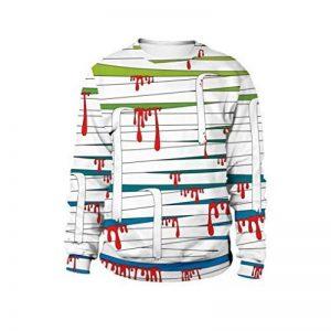 Manadlian-T Shirt De FêTe d'impression 3D De FantôMe d'halloween Sweat à Capuche Lovers de la marque Manadlian-T+Shirt image 0 produit