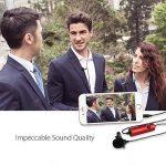 Maono Lavalier Micro, Lapel Mic mains libres avec condensateur omnidirectionnel pour appareil photo, DSLR, iPhone, Android, Samsung, Sony, PC, ordinateur portable RED de la marque MAONO image 3 produit