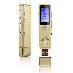 MAOZUA Enregistreur vocal numérique professionnel de 8 Go Enregistreur vocal activé par radio USB rechargeable avec écran LCD pour les conférences Cours et entrevues de la marque MAOZUA image 0 produit