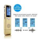 MAOZUA Enregistreur vocal numérique professionnel de 8 Go Enregistreur vocal activé par radio USB rechargeable avec écran LCD pour les conférences Cours et entrevues de la marque MAOZUA image 2 produit