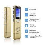 MAOZUA Enregistreur vocal numérique professionnel de 8 Go Enregistreur vocal activé par radio USB rechargeable avec écran LCD pour les conférences Cours et entrevues de la marque MAOZUA image 1 produit