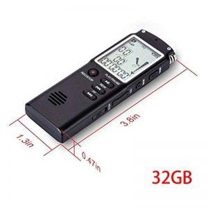 Masterein Mini USB Professional Grand Écran Dictaphone Audio numérique Enregistreur Vocal Horloge avec Lecteur MP3 WAV 32GB de la marque Masterein image 0 produit