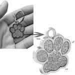 Médaille d'identification Berry personnalisable pour chiens et chats en forme de patte, 24mm, en acier inoxydable de la marque Berry image 1 produit