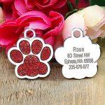 Médaille d'identification Berry personnalisable pour chiens et chats en forme de patte, 24mm, en acier inoxydable de la marque Berry image 3 produit