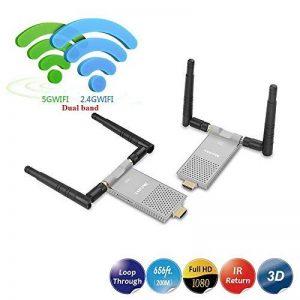 MEASY AIR Prime Extender HDMI sans Fil 1080P jusqu'à 656 Pieds / 200 mètres Prend en Charge la télécommande IR avec émetteur et récepteur de la marque Measy image 0 produit