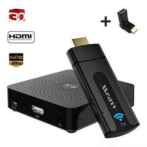 MEASY W2H Mini émetteur et récepteur vidéo Audio sans Fil Système HDMI avec 60 GHZ et Courte portée 10m / 33 FT pour Tous Les PC, téléviseurs. Mini projecteur vidéo et projecteur Home cinéma. de la marque Measy image 0 produit