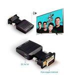 Measy Wireless HDMI Extender W2H MINI Inclut Transmetteur et Kit récepteur 1080P Vidéo 3D jusqu'à 10M / 33Ft Ajouter VGA TO HDMI Adaptateur pour PC TV BOX DVD X-BOX vers TV ou projecteur de la marque Measy image 2 produit