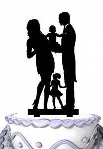 Meijiafei gteau de mariage–Tenue Papa et Maman Bébé et petite fille Famille anniversaire gteau de la marque Meijiafei image 0 produit