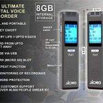 Meilleur Activation vocale Enregistreur appareil pour clair en Réunion et en cours d'enregistrement audio, fichiers MP3, dictaphone numérique de poche Mini Player, son de haute qualité Microphones, écouteurs, câble USB, Jigmo de la marque JiGMO image 4 produit