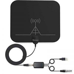 Mercase Antenne TNT Intérieure Amplifiée [Rayon de 60miles, Câble DE 13.2ft avec l'Amplificateur Détachable] Aérienne Digitale Puissante HDTV de la marque Mercase image 0 produit