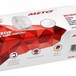Meto Étiquettes pour étiqueteuse de main 9506166(26x 16mm Lot de 2lignes, 6000, repositionnable, pour Meto, contact, Sato, Avery, Tovel, Samark etc.) 6rouleaux Blanc de la marque Meto image 2 produit