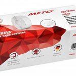 Meto Étiquettes étiquettes de prix pour étiqueteuse de main 9517184(26x 12mm, 1lot de lignes, 6000, G5Multi Fonction permanent et surgelés, pour contact 6rouleaux, Sato, Avery, Tovel, Samark etc.), blanc de la marque Meto image 1 produit