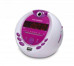 Metronic 477022 Radio-Réveil Enfant Miss Angel MP3 USB Projection 180°- Blanc/Violet de la marque Metronic image 0 produit