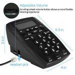 Micro-casque téléphonique call center pavé numérique téléphone avec tone dial Key Pad & BIS pour Business Téléphone Filaire Call Center Téléphone enregistrer le voix de la marque DIGITNOW! image 1 produit