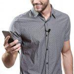Micro Cravate pour Téléphone, Seacue 3.5mm Audio Jack Omnidirectionnel Microphone Condensateur Tie Clip On pour Youtube / Interview / Podcast / Vidéo, Projet pour IOS / Andriod / Windows / Mac ( 2m ) de la marque Seacue image 1 produit