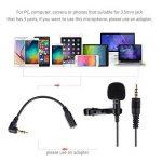 Micro Cravate pour Téléphone, Seacue 3.5mm Audio Jack Omnidirectionnel Microphone Condensateur Tie Clip On pour Youtube / Interview / Podcast / Vidéo, Projet pour IOS / Andriod / Windows / Mac ( 2m ) de la marque Seacue image 2 produit
