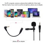 Micro Cravate Smartphone, Professional Grade 3.5mm Audio Jack Microphone à Condensateur Omnidirectionnel Cravate Revers Tie Clip On Mini Mic pour Recording Interview / Video Conference / Podcast / Voice Dictation / Phone de la marque aitesco image 2 produit