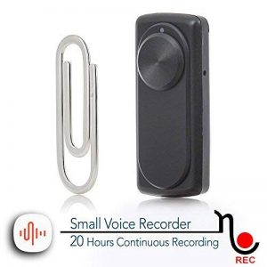 Micro enregistreur vocal | Capacité de 8 Go -141 heures | 20 heures de vie de la batterie | Facile à utiliser - nanoREC par aTTo digital de la marque image 0 produit