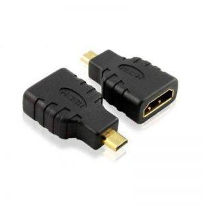 Micro HDMI mâle vers HDMI femelle Adaptateur Convertisseur pour connecter Tablettes / Appareils Photo / Camescope / Video Caméra / Panasonic Lumix DMC DMC- HC HC- Series GH4 FZ1000 FZ300 FZ330 GF7 GF7K GH4A GH4H TZ61 TZ70 TZ71 TZ80 Asus T100 /Transformer image 0 produit
