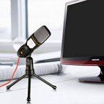 Microphone à condensateur avec trépied pour PC portable ordinateurs son enregistrement en Podcast Studio, parfait pour chat Skype MSN (Noir) de la marque All_Star image 4 produit