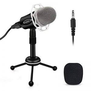 Microphone PC, ELEGIANT Micro professionnel à Condensateur Podcasting Studio XLR vers Jack pour Radio Skype YouTube Jeux Videos Recherche de Voix Compatible avec Ordinateur PC Windows Mac de la marque ELEGIANT image 0 produit