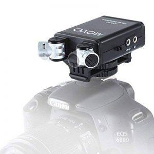 Microphone Vidéo Stéréo Movo VXR280 avec condensateur sur Appareil Photo et Micro Capsules directionnelles Réglables 90°-120° de la marque Movo image 0 produit