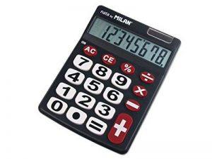 Milan 151708BL Blister Calculatrice Electronique 8 chiffres Touches grands de la marque Milan image 0 produit