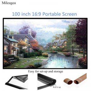 Mileagea Écran de Projection 100 Pouches 220x127cm seulement 1,5kg pour HD / 3D Film de la marque Mileagea image 0 produit