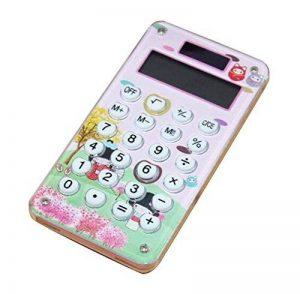 Mini calculatrice de poche d'énergie solaire de carte de crédit mince avec le grand affichage de 8 chiffres, A de la marque Black Temptation image 0 produit