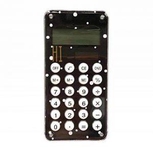 Mini calculatrice de poche d'énergie solaire de carte de crédit mince avec le grand affichage de 8 chiffres, C de la marque Black Temptation image 0 produit