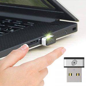 Mini lecteur d'empreinte digitale USB pour Windows 7, 8 & 10 Hello, PQI My Lockey clé de sécurité multi-biométrique fido avec contact à 360° et association rapide de la marque PQI image 0 produit