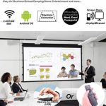 Mini Projecteur, Android 7.1 Videoprojecteur Pico Projecteur Portable Sans Fil Partage d'écran pour iPhone Airplay Android Smartphone Miroir, Wifi Max HD 1080P DLP 4200mAh Batterie Rechargeble Bluetooth 4.0 Quad-Core HDMI/TF/USB de la marque TOUMEI image 2 produit