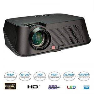 """Mini Projecteur Portable, Beatie VS626 3D Vidéoprojecteur LED 5.8"""" LCD 1080P Full hd 3500 lumens AV HDMI USB VGA LCD,Projecteur de Cinéma Maison de la marque Beatie image 0 produit"""