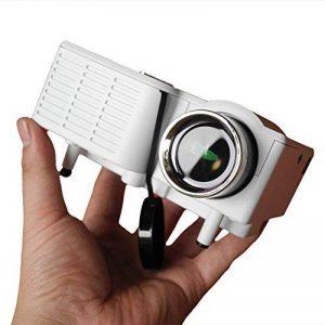 Mini Projecteur Portable Maison Cinéma - UC28 + Vidéoprojecteur 1080P Full HD LED 2 en 1 3D Projecteur AV VGA USB HDMI (Blanc) de la marque Beatie image 0 produit