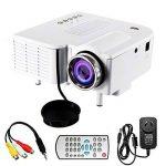 Mini Projecteur Portable Maison Cinéma - UC28 + Vidéoprojecteur 1080P Full HD LED 2 en 1 3D Projecteur AV VGA USB HDMI (Blanc) de la marque image 4 produit