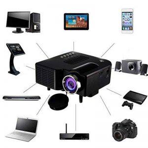 Mini Projecteur Portable Maison Cinéma - UC28 + Vidéoprojecteur 1080P Full HD LED 2 en 1 3D Projecteur AV VGA USB HDMI (Noir) de la marque Beatie image 0 produit