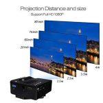Mini Projecteur Portable Maison Cinéma - UC28 + Vidéoprojecteur 1080P Full HD LED 2 en 1 3D Projecteur AV VGA USB HDMI (Noir) de la marque Beatie image 4 produit