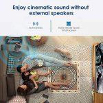 Mini projecteur sans fil Bluetooth HDMI - 1500 Lumens LED LCD WiFi 1080 P multimédia Home Cinéma Cinéma Film Jeux vidéo Partie en plein air y compris USB, VGA, Jack audio 3,5 mm, Haut-parleur intégré, Keystone de la marque WIKISH image 4 produit