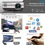 Mini projecteur sans fil Bluetooth HDMI - 1500 Lumens LED LCD WiFi 1080 P multimédia Home Cinéma Cinéma Film Jeux vidéo Partie en plein air y compris USB, VGA, Jack audio 3,5 mm, Haut-parleur intégré, Keystone de la marque WIKISH image 1 produit
