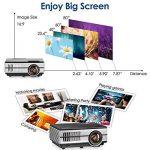 Mini projecteur sans fil Bluetooth HDMI - 1500 Lumens LED LCD WiFi 1080 P multimédia Home Cinéma Cinéma Film Jeux vidéo Partie en plein air y compris USB, VGA, Jack audio 3,5 mm, Haut-parleur intégré, Keystone de la marque WIKISH image 2 produit