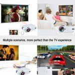 Mini Projecteur Vidéo Home Cinema, toprui portable LED Projecteur 3000Lumens Full HD 1080p, interfaces HDMI USB VGA AV TF pour PC PS4Téléphone Smartwatch Film fête Jeu, haut-parleur de la marque TopRui image 4 produit