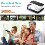 Mini Projecteur Video, Houzetek Projecteur 2500 Lumens Vidéoprojecteur Portable Retroprojecteur Soutien 1920 x 1080P/VGA/HDMI/USB/SD Card/AV, Projecteur Full HD HiFi 4: 3/16: 9, Compatible avec PS3, PS4, Amazon Fire TV Stick, TV Box, Clé USB, PC, Ordinate image 2 produit