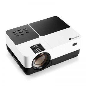 Mini Projecteur Video, Houzetek Projecteur 2500 Lumens Vidéoprojecteur Portable Retroprojecteur Soutien 1920 x 1080P/VGA/HDMI/USB/SD Card/AV, Projecteur Full HD HiFi 4: 3/16: 9, Compatible avec PS3, PS4, Amazon Fire TV Stick, TV Box, Clé USB, PC, Ordinate image 0 produit