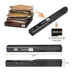 Mini Scanner de Poche Aoleca 900 DPI Resolution Portable sans Fil Sélection de Format JPG/PDF (USB 2.0 Haute Vitesse, Carte Micro SD 8G et Logiciel OCR inclus) de la marque VEAMA image 1 produit