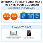 Mini Scanner de Poche Aoleca 900 DPI Resolution Portable sans Fil Sélection de Format JPG/PDF (USB 2.0 Haute Vitesse, Carte Micro SD 8G et Logiciel OCR inclus) de la marque VEAMA image 3 produit